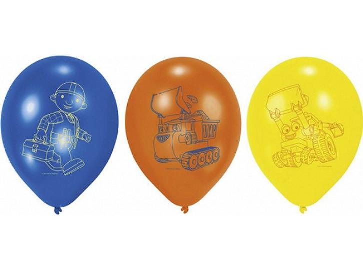 Luftballon Bob der Baumeister 6 Stk.
