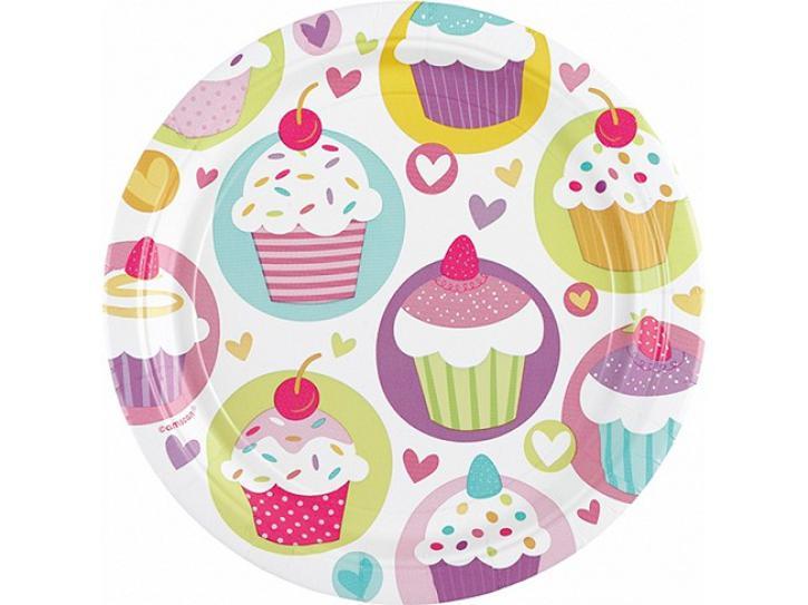 Teller Cupcake Party 8 Stk.