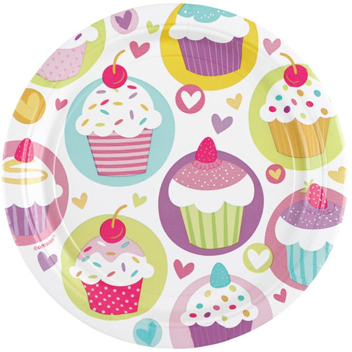 Teller klein Cupcake Party 8 Stk.
