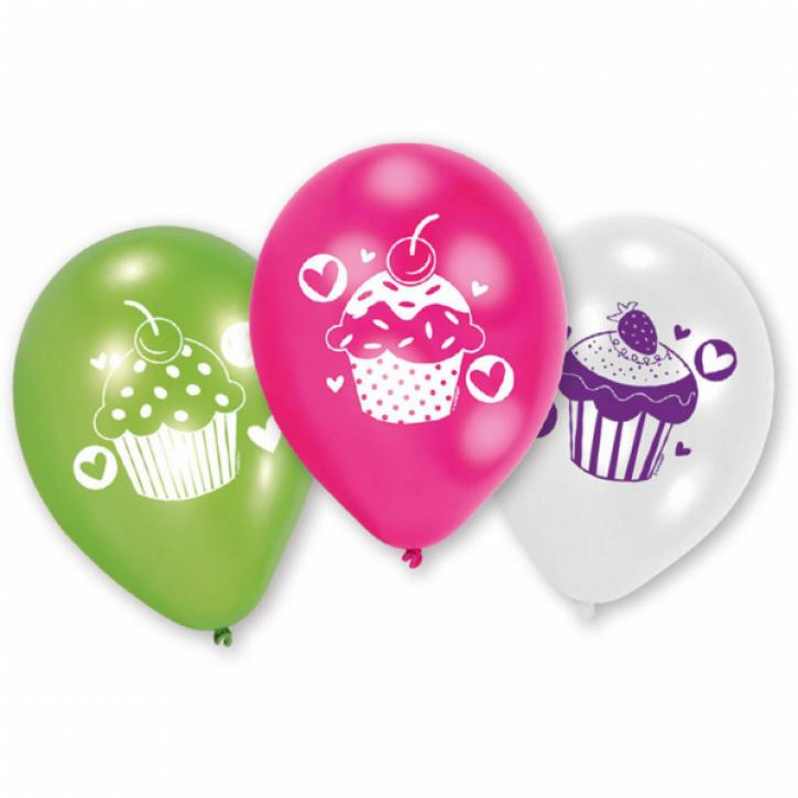 Luftballon Cupcake party 6 Stk.