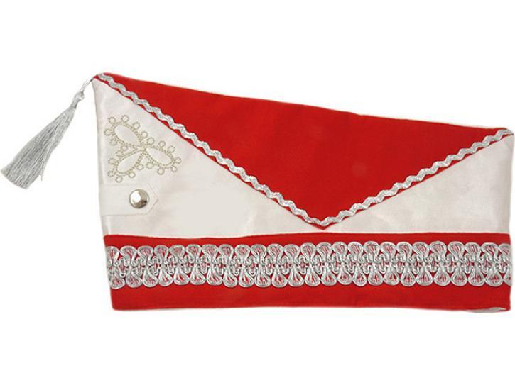 Karnevalsmütze Schiffchen rot/weiß