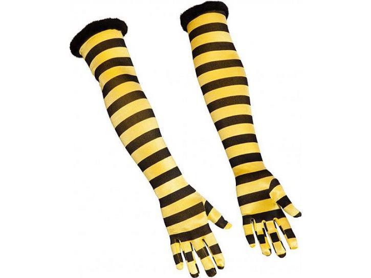 Handschuhe Biene lang