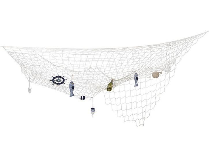 Fischernetz 300x300cm naturweiß