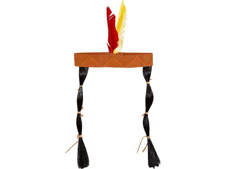 Kopfband Indianer mit Zöpfen