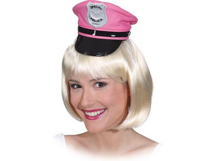 Haarreif Minihut Police pink