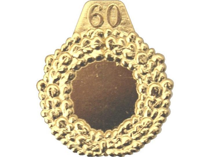 Kranz goldfarbig mit 60