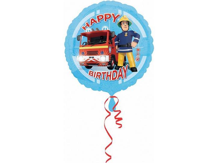 Folienballon Feuerwehrmann Sam 45 cm.