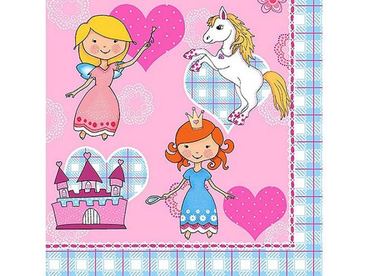 Servietten Princess & Pony 20 Stück