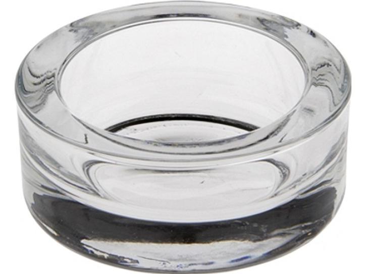 Kerzenhalter Teelichthalter Glas rund