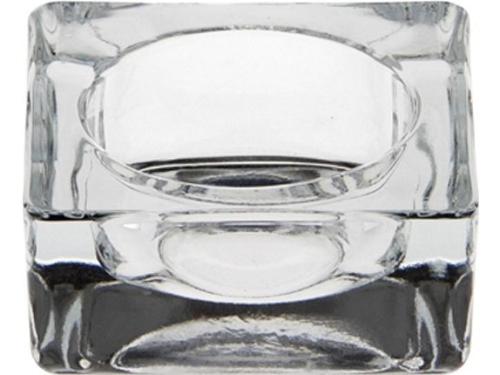 Kerzenhalter Teelichthalter Glas eckig