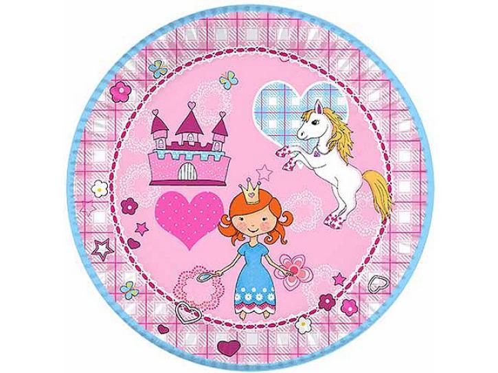 Teller Princess & Pony 10 Stück