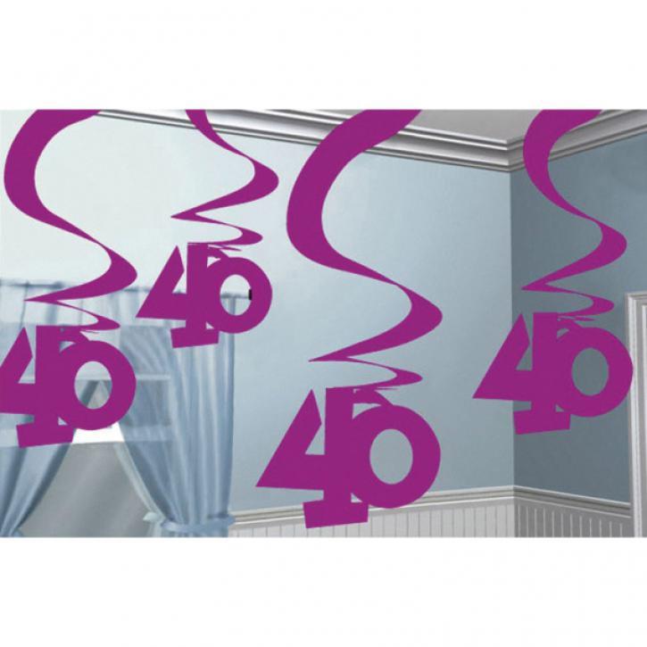 Dekoration Swirl pink 40
