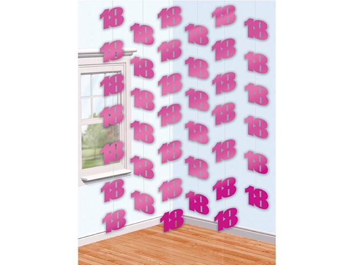 Dekoration String pink 18