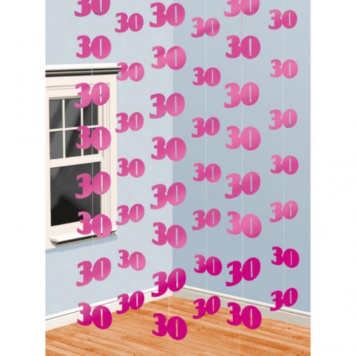 Dekoration String pink 30