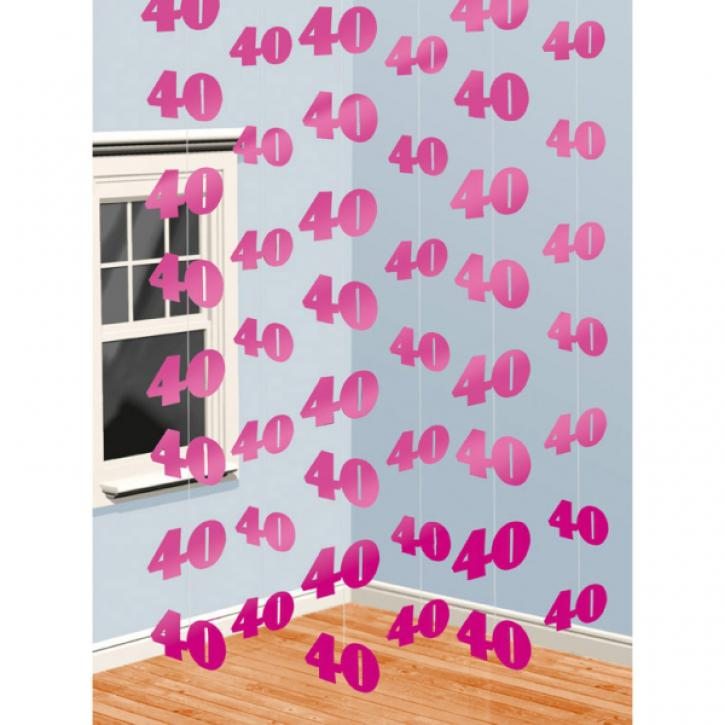 Dekoration String pink 40