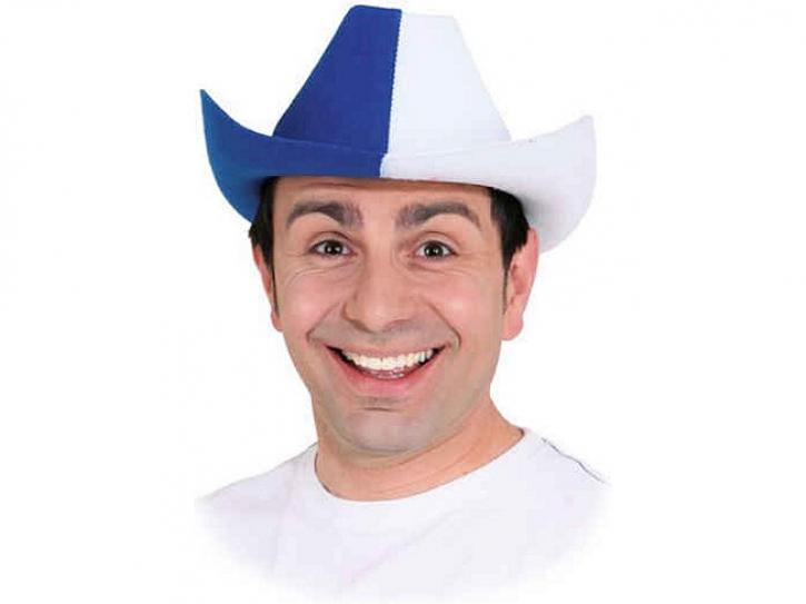 Cowboyhut blau/weiß