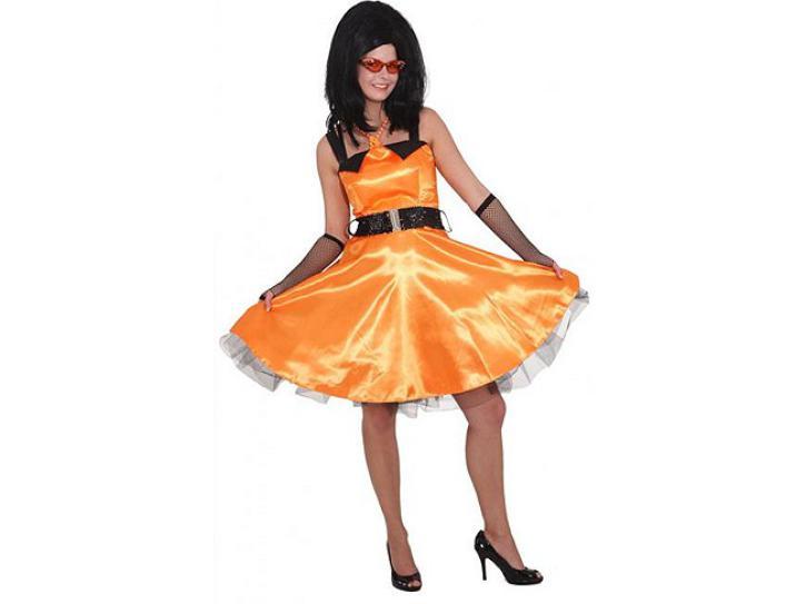 Kleid Sixties orange Gr.46
