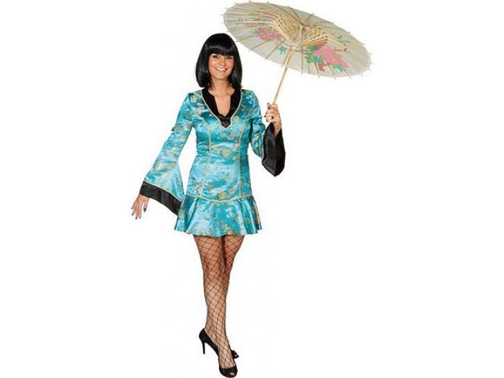 Kostüm China Girl de Luxe türkis Gr.40