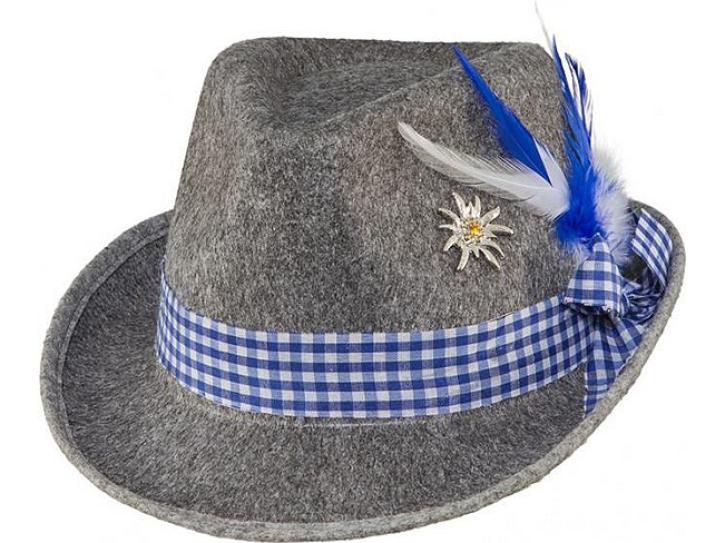 Trachtenhut grau/blau KW 58