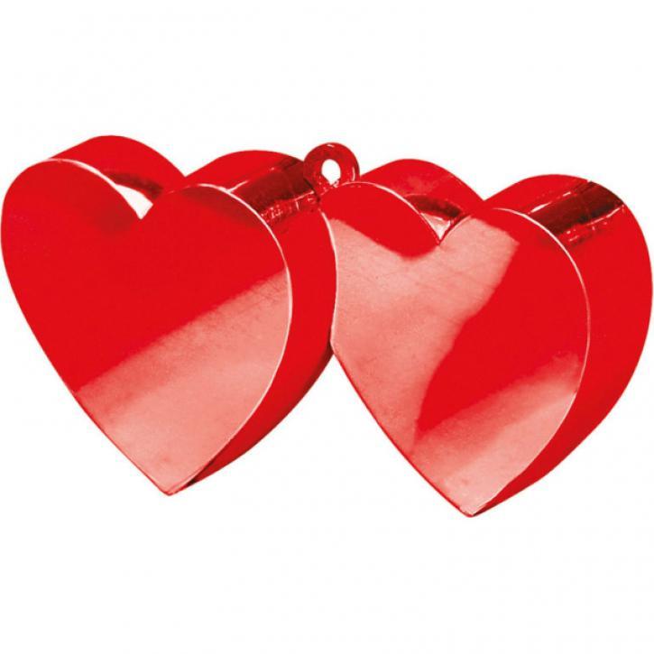 Ballongewicht Herz doppelt rot