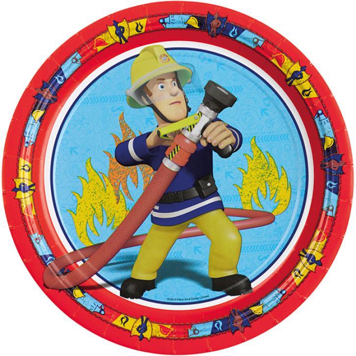 Teller Feuerwehrmann Sam 8 Stk.