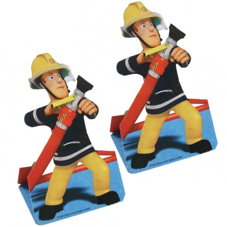 Einladungskarten Feuerwehrmann Sam 8 Stk.
