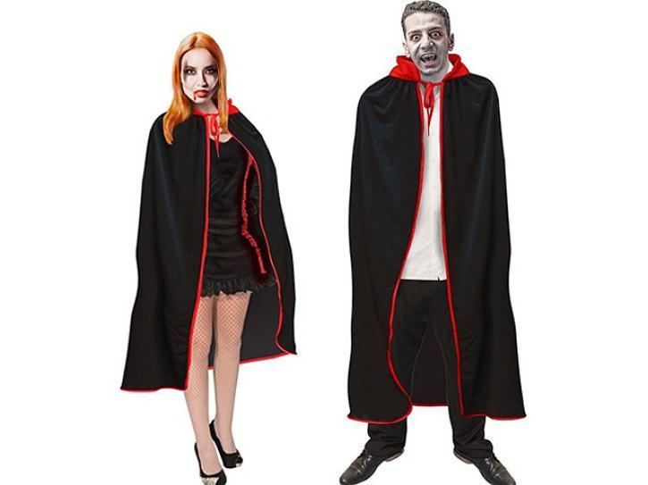 Umhang Vampir schwarz-rot 107 cm
