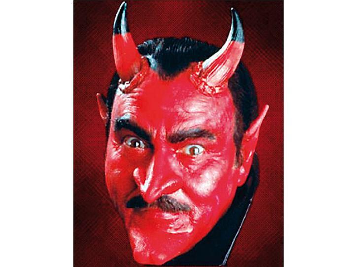 Latex Teufelshörner groß rot