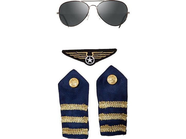 Piloten Set dunkelblau 4 tlg.