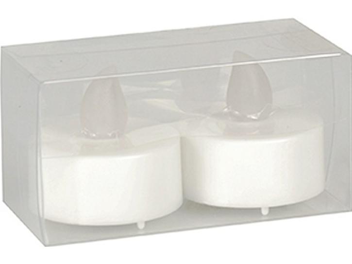2 LED-Teelicht weiß inkl. Batterien