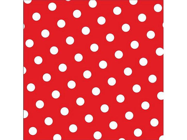 Servietten Dots Rot 30 Stück