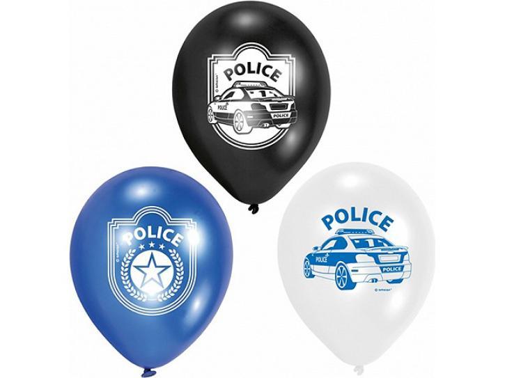 Luftballon Polizei 6 Stk.