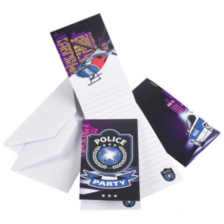 Einladungskarten Polizei 8 Stk.