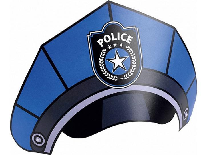 Partyhut Polizei 6 Stk.