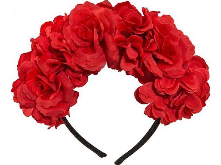 Haarreif Blumenschmuck rot