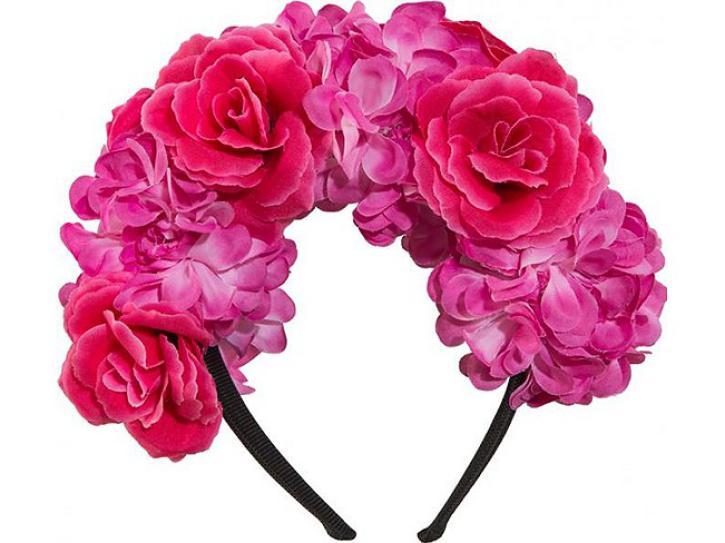 Haarreif Blumenschmuck pink