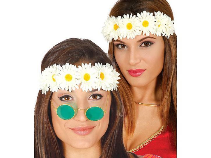 Haarband Blumen weiß