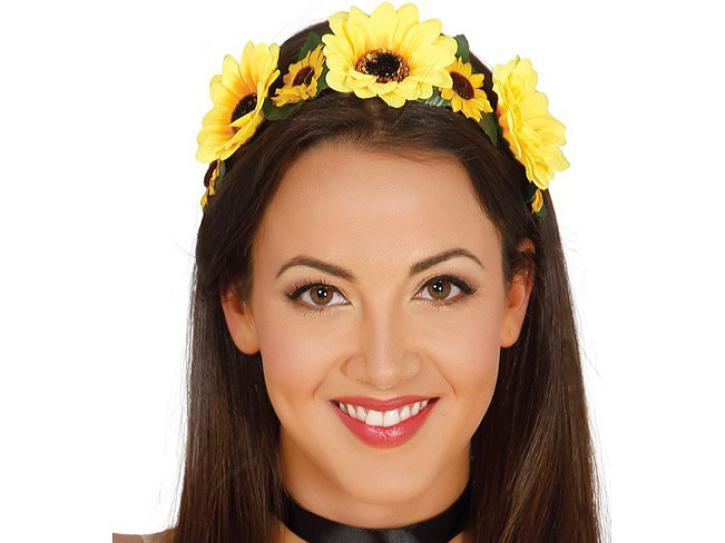 Haarband Blumen gelb