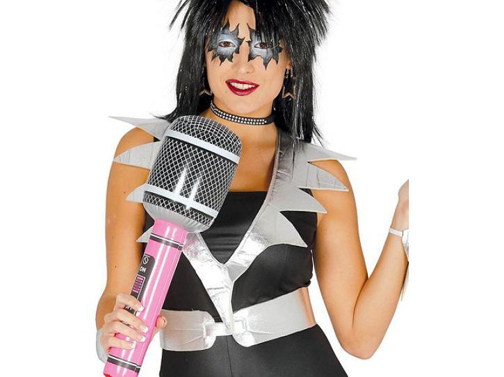 Mikrofon aufblasbar  pink