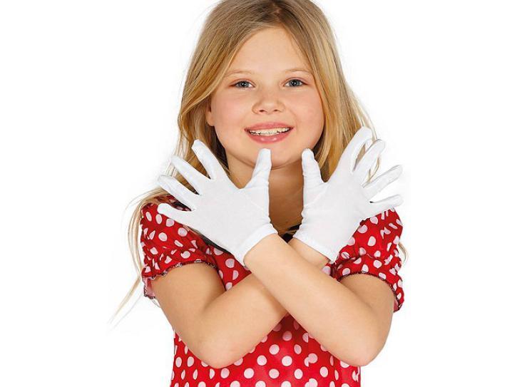 Handschuhe weiß Kinder