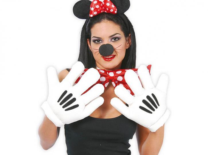 Maus Handschuhe weiß