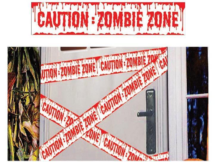 Absperrband Zombie Zone 600x12 cm