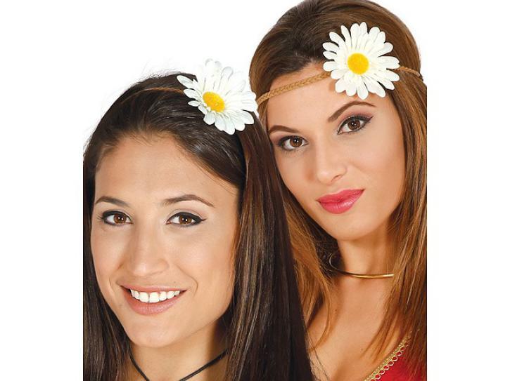 Haarband mit Blume weiß
