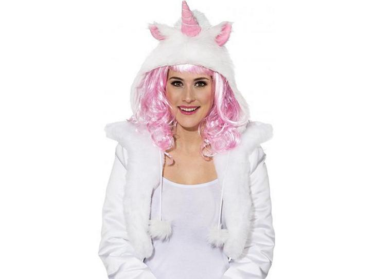Mütze Einhorn pink/weiß