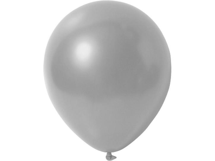 Luftballon metallic silber 20 Stk.