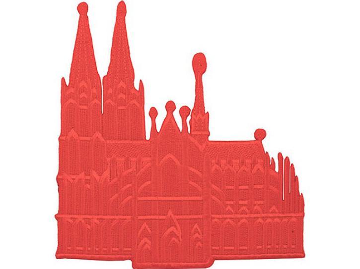 Bügelbild Dom rot groß