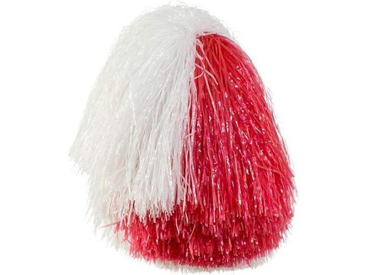 Cheerleader Pompon rot/weiß