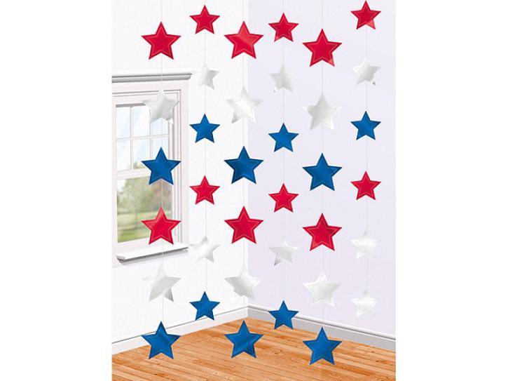Dekoration String Sterne USA