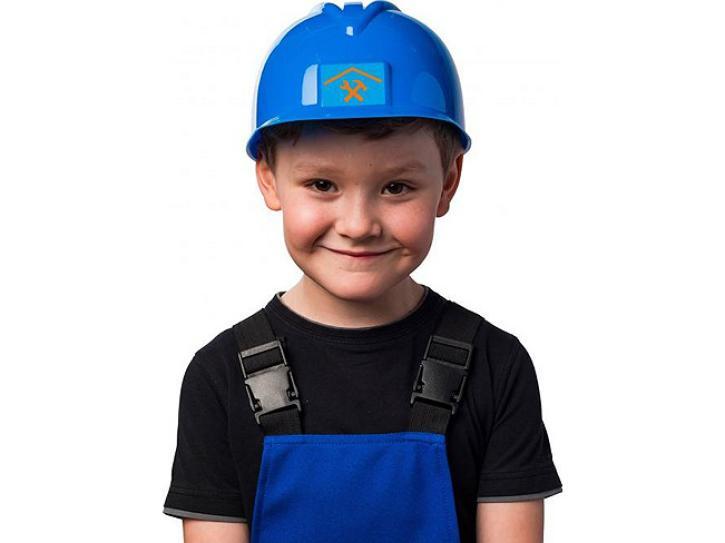 Bauhelm blau für Kinder