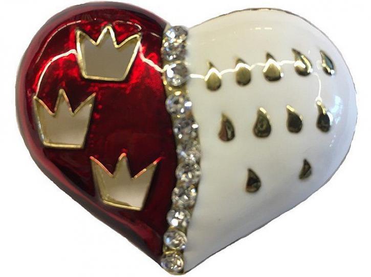 Brosche Herz Kölner Wappen